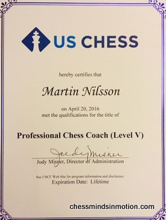 USCF Certified Professional Chess Coach